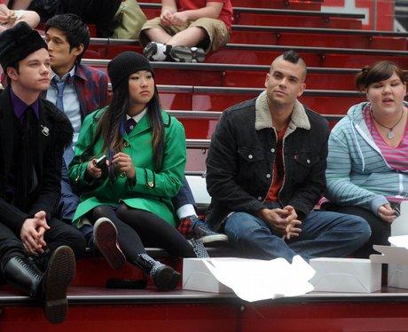 """""""Glee"""" filming"""