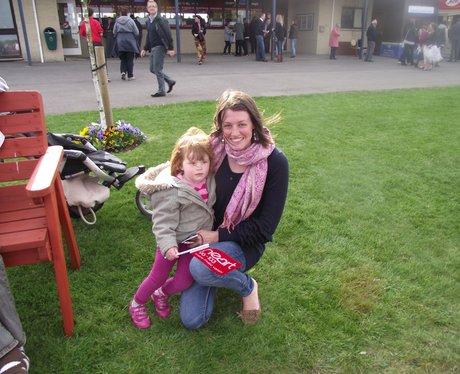 Heart & Alexandra Burke at Wincanton Racecourse