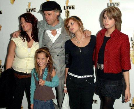 Sir Bob Geldof with daughters