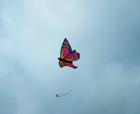 The Angels spent the day playing with Kites at the