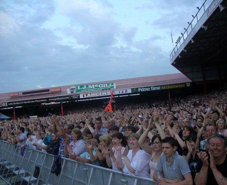 The crowd enjoy Bon Jovi at Ashton Gate