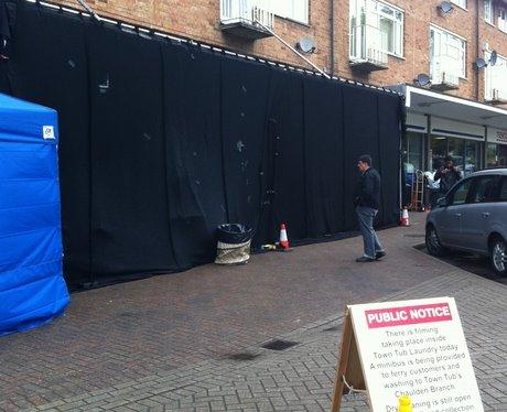 Simon Pegg filming in Hemel