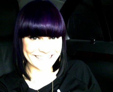 Jessie J with purple hair