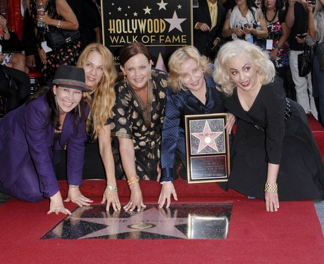 The go go girls on The Hollywood Walk of Fame