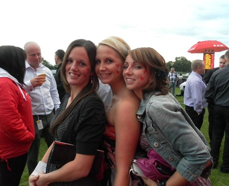 Heart at Bath Racecourse Ladies Day