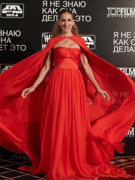 Sarah Jessica Parker red dress