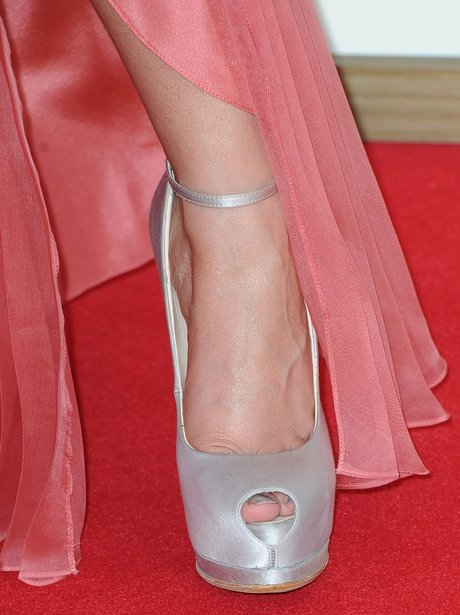 metallic peep-toes