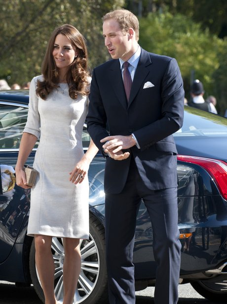 The duchess of cambridge in a white dress