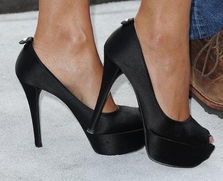 black peep-toes