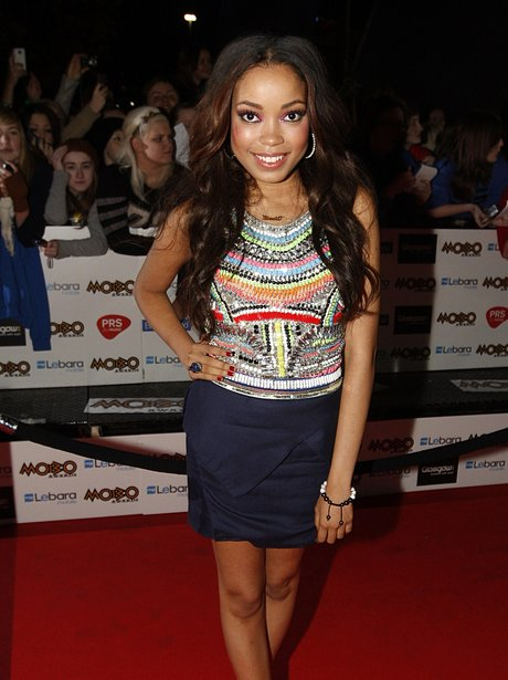 Dionne Bromfield attends Notion Magazine Issue 72 launch Party #leatherskirt