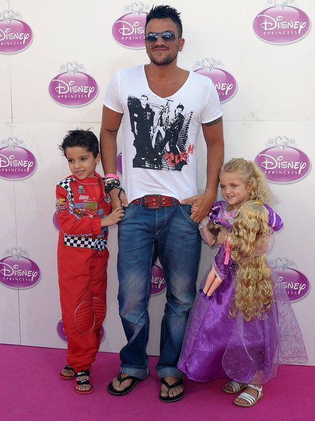 Peter Andre with Junior and Princess at Disney Princess Court at Kensington Palace