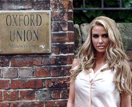 Katie Price at Oxford Union