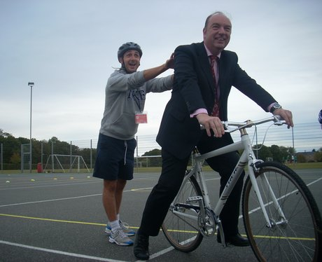 Norman Baker visits The Gilberd School
