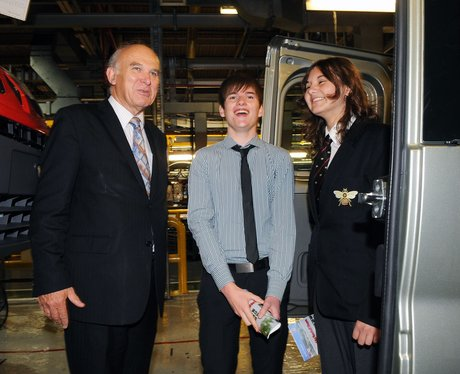 Vince Cable at Vauxhall Plant Luton