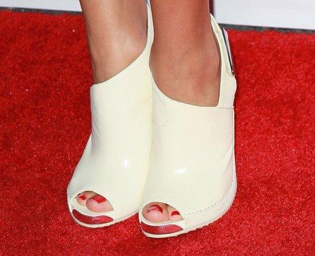 white peep-toes