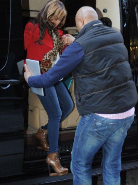 Beyonce wears expensive high heels