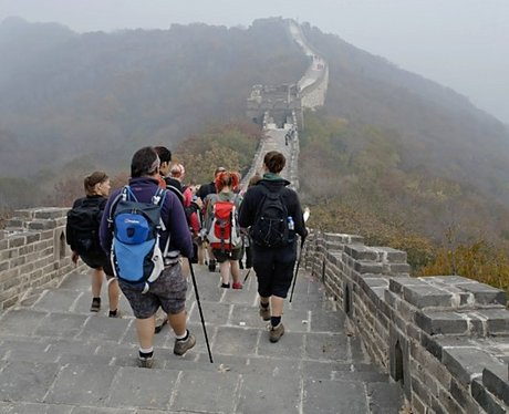 China Trekkers make a descent