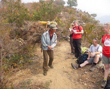 China Trekkers meet a local