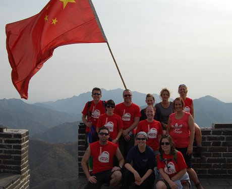 China Trekkers wave the flag
