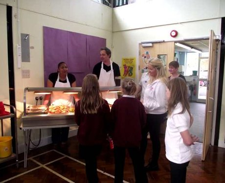 School Dinners Tout at Stockham Primary School