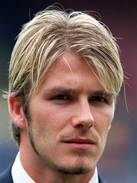 David Beckham With A Blonde Fringe