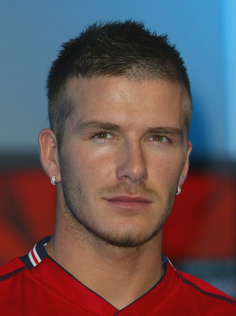 The top ten hairstyles for men as modelled by david beckham heart david beckham with a crew cut voltagebd Images