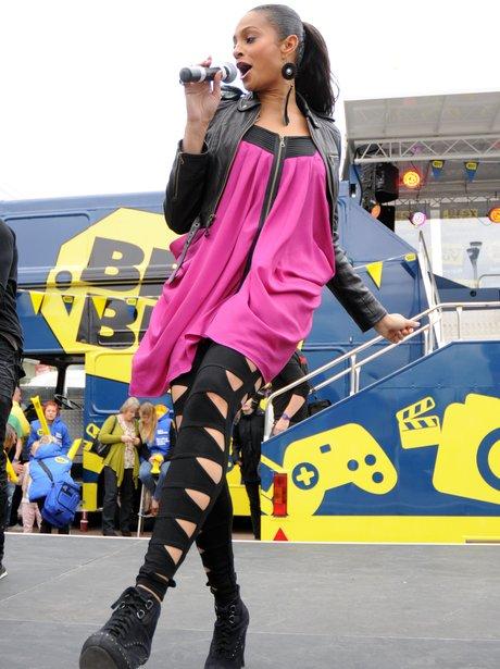 Alisha Dixon performing live