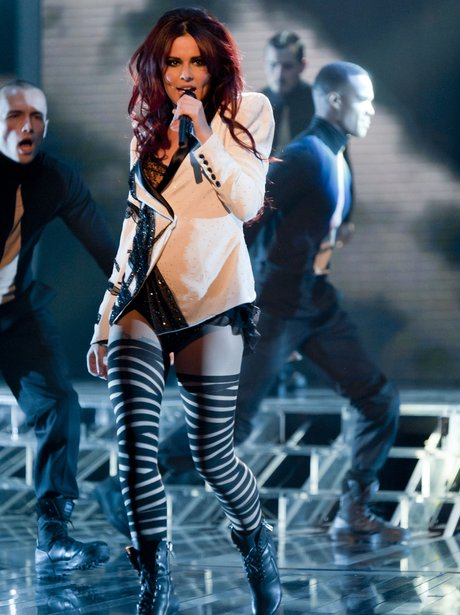 Cheryl Cole performing live