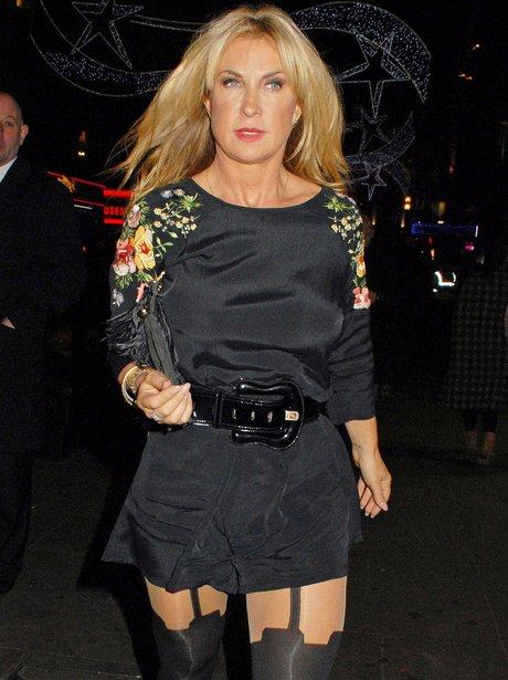 Meg Matthews in tights
