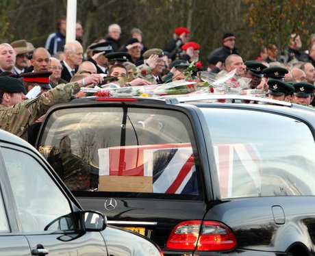 The bodies of four servicemen flown back to UK