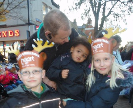 We turn the Christmas Lights on in Gillingham!