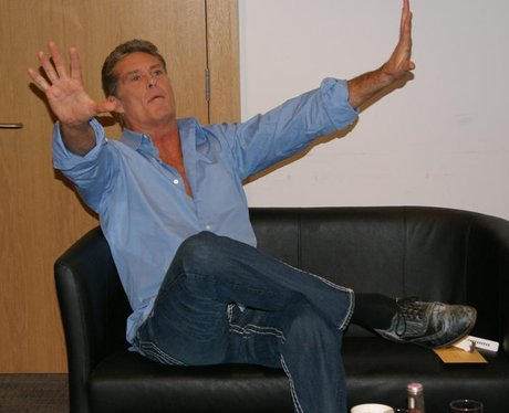 Backstage with The Hoff at Cabot Circus