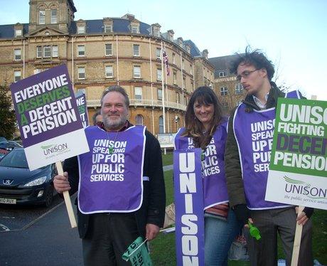 Unison members striking