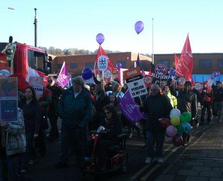 Public Sector Strike Luton March