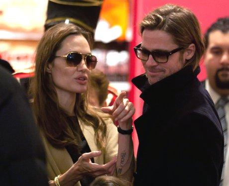 Angelina Jolie and Brad Pitt in New York
