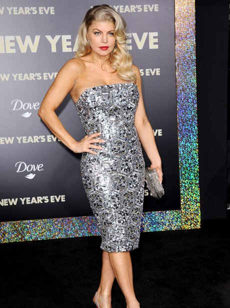 Fergie arrives for the New Year's Eve premiere