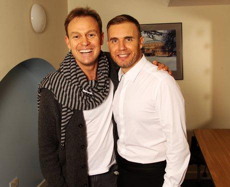 Jason Donovan and Gary Barlow backstage