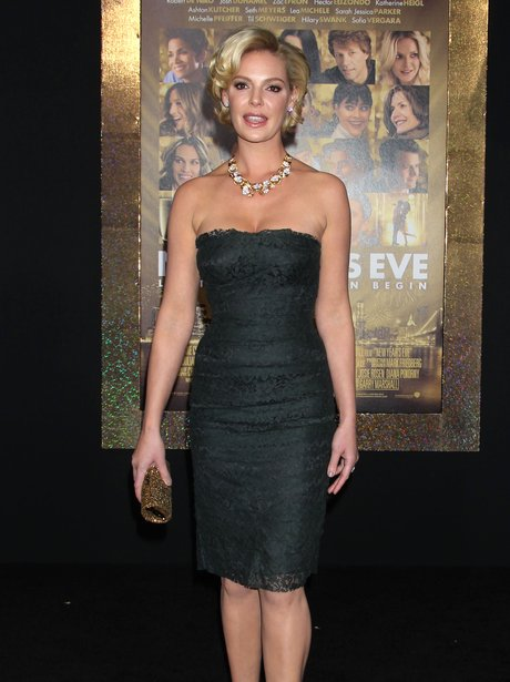 Katherine Heigl arrives for the New Year's Eve pre