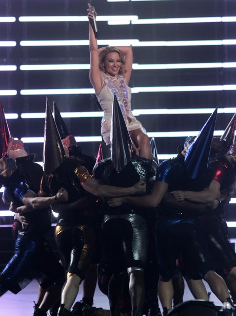 Kylie Minogue performs live