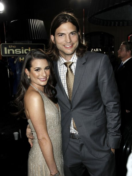 Lea Michele and Ashton Kutcher arrives for the New