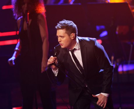 Michael Buble performs for X Factor