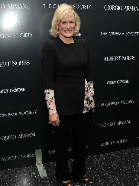 Glenn Close arrives at a screening