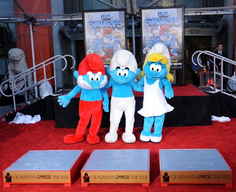 The Smurfs Hand and Footprint Ceremony