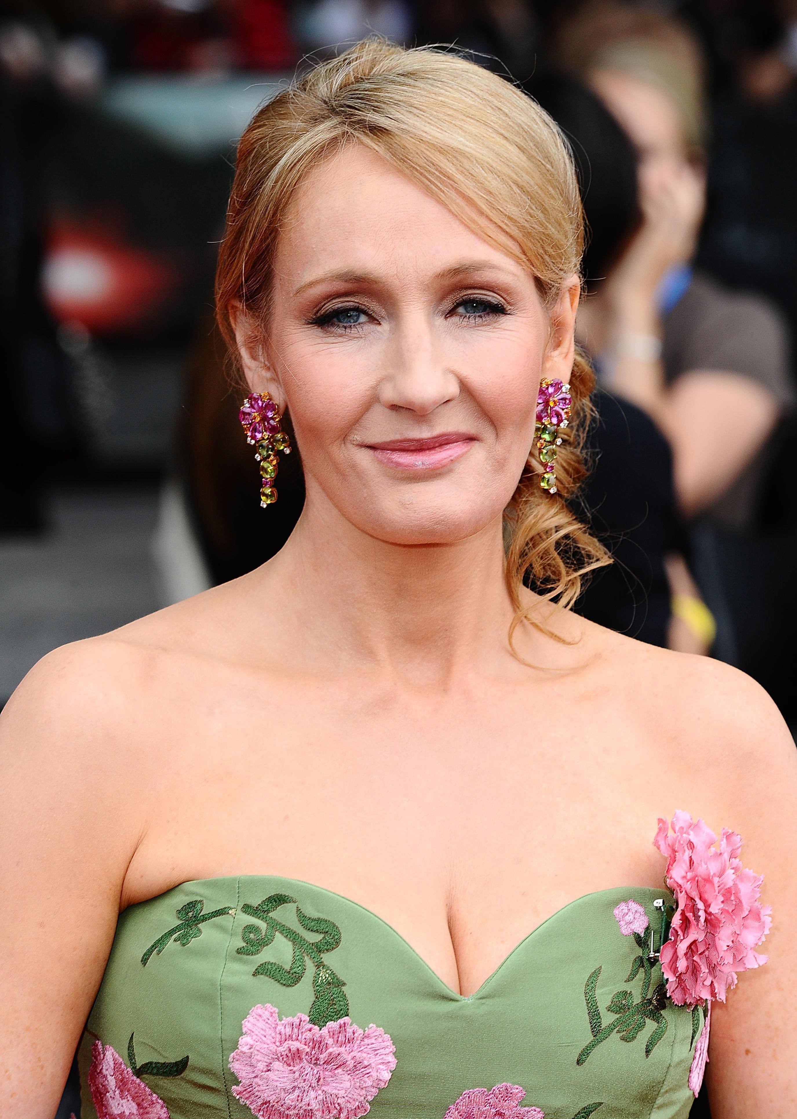 JK Rowling arrives for a film premiere