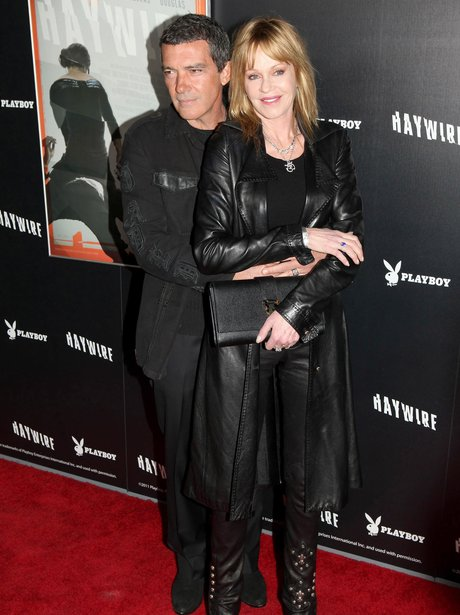 Antonio Banderas and Melanie Griffith on the red carpet