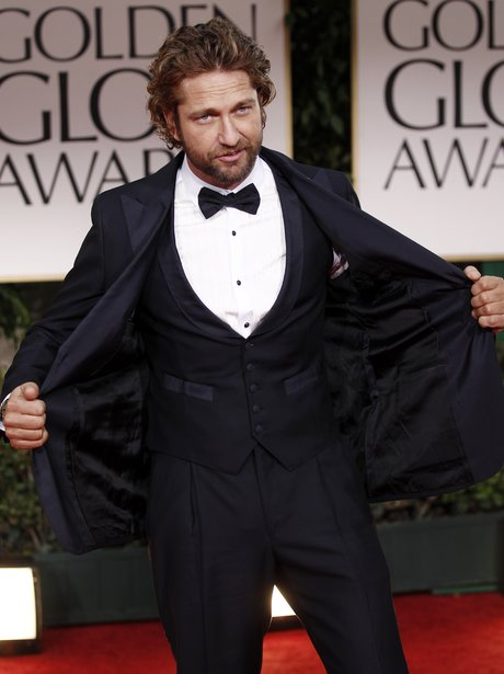 Gerard Butler at the Golden Globes
