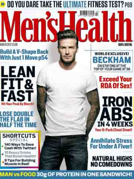 David Beckham on the cover on Men's Health