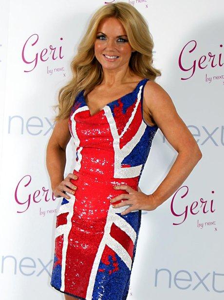 Geri Halliwell NEXT Union Jack Launch