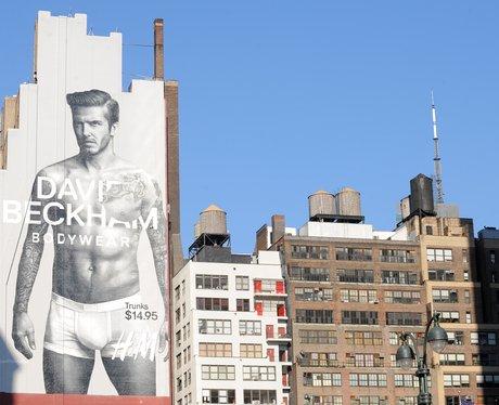 David Beckham stops traffic in New York