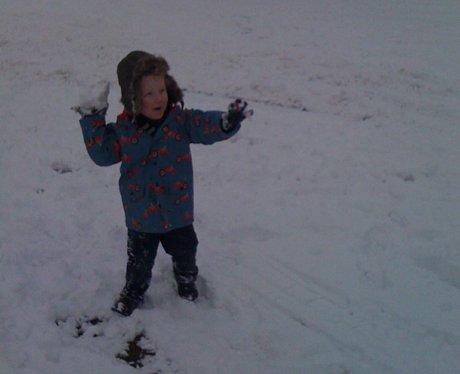 grandson alfie at the obleisk centre Northampton
